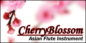 Cherry Blossom Asian Flute Instrument in Soundfont or WAV Samples for FL Studio, Reason, MPC, and more